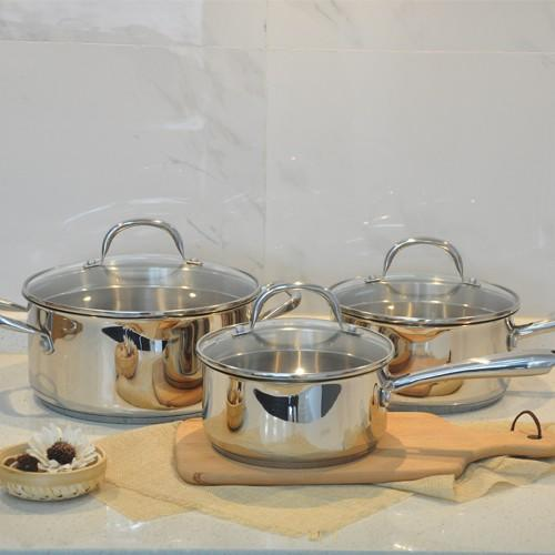 china wholesale non stick induction stainless steel cookware set
