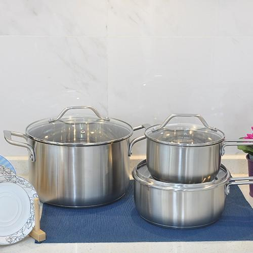 elegant design stainless steel 12pcs cooking pot set with SS lid