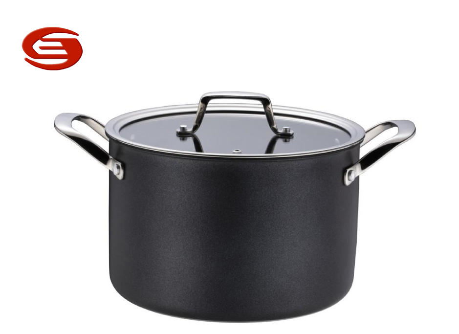 Tri-ply stainless steel Non-stick Casserole with glass lid